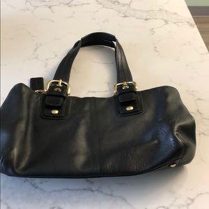 Black leather Coach handbag